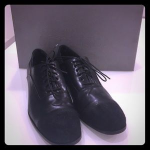 Authentic Alexander McQueen Black Leather shoes.